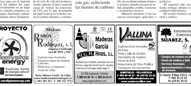 """INSERCIÓN PUBLICITARIA DEL PROYECTO LIFE EUCALYPTUS ENERGY EN EL PERIÓDICO """"LA NUEVA ESPAÑA"""" APROVECHANDO EL """"DÍA FORESTAL MUNDIAL"""""""